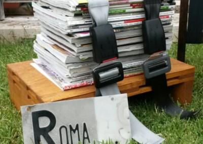 Pouf con riviste