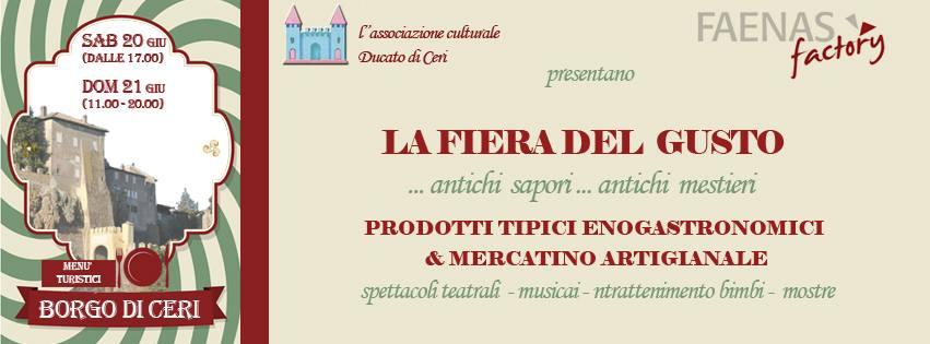 GIUGNO 21-22, - Fiera del Gusto a Borgo Ceri - PAG.1