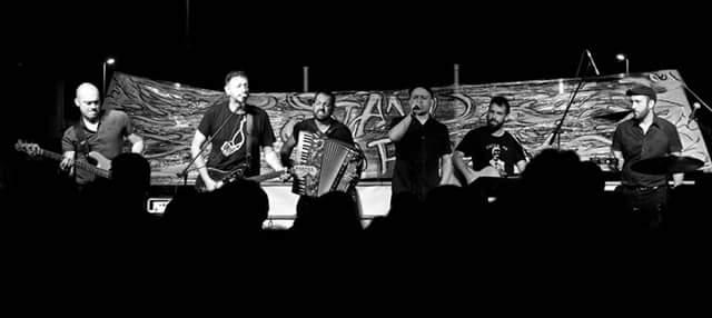 LUGLIO 19, 2015 -Giancane e Muro del Canto per la prima volta sul palco con Tracolla Hendrixxx