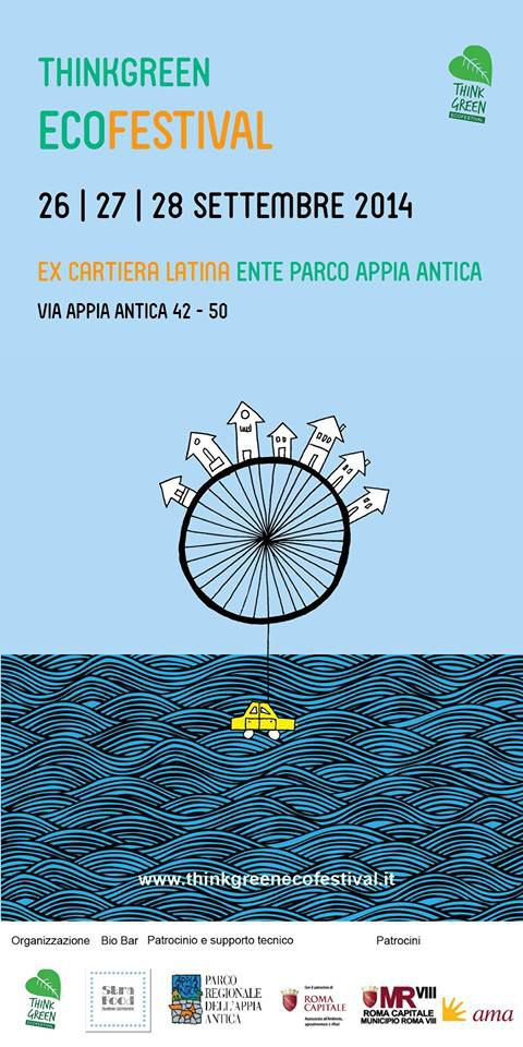 SETTEMBRE 26-27-28, 2014 - Think Green Ecofestival 2014-poster . PAG.1
